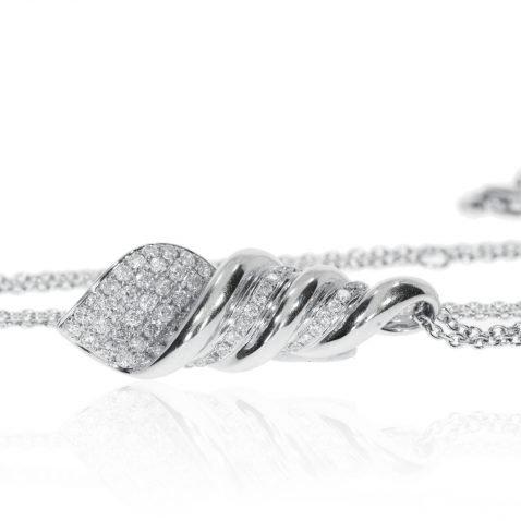 Diamond Shell Pendant By Heidi Kjeldsen Jewellery P821 Flat