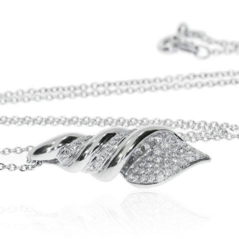 Diamond Shell Pendant By Heidi Kjeldsen Jewellery P821 Side