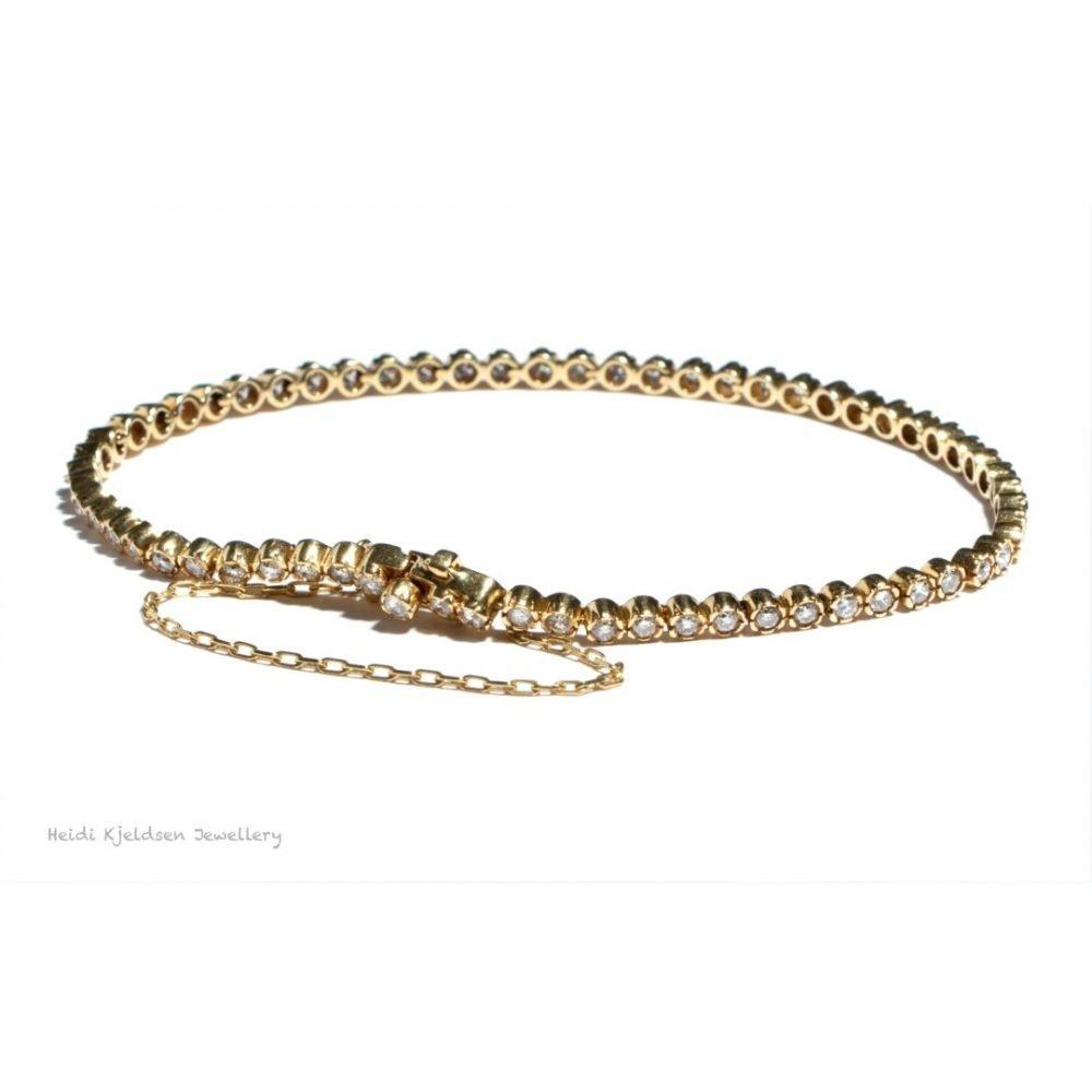 Heidi Kjeldsen Diamond & 18ct Yellow Gold Bracelet BA020X A