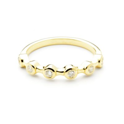 Heidi Kjeldsen Beautiful 18ct Yellow Diamond Stacking Ring R1075