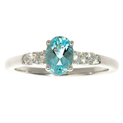Heidi Kjeldsen Bespoke Aquamarine & Diamond 18ct Gold Dress Ring R919A