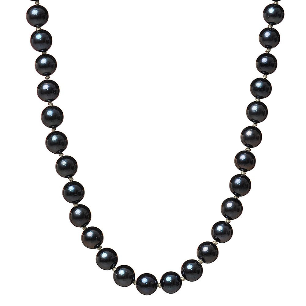 Heidi Kjeldsen Black Japanese Akoya Pearl Necklace NL915