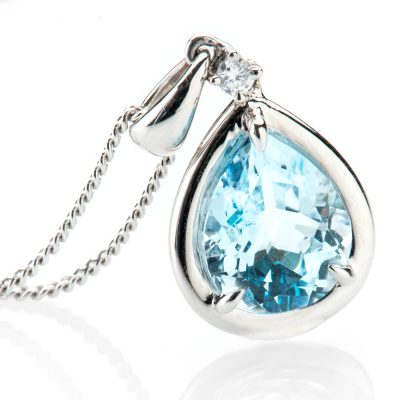 Heidi Kjeldsen Dazzling Topaz and Diamond Pendant P1009
