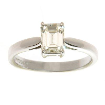 Heidi Kjeldsen Diamond Emerald Cut Ring R733