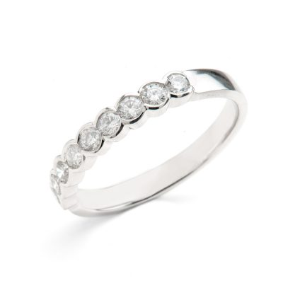Heidi Kjeldsen Diamond & Platinum Eternity Ring Alt 3 R1030