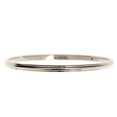 Heidi Kjeldsen Elegant Handmade Sterling Silver Ridged Bangle BL933
