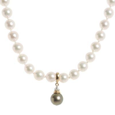 Heidi Kjeldsen Elegant Japanese Akoya Cultured Pearl Necklace NL970