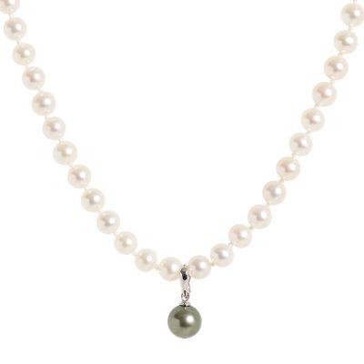 Heidi Kjeldsen Elegant Tahitian Pearl & 18ct White Gold Pearl Enhancer P887