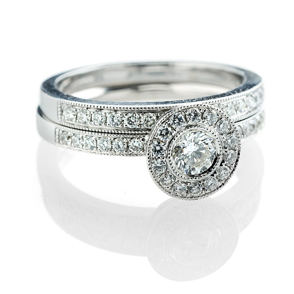 Heidi Kjeldsen Exclusive Diamond Set Eternity Ring in 18ct White Gold R988+R981-2