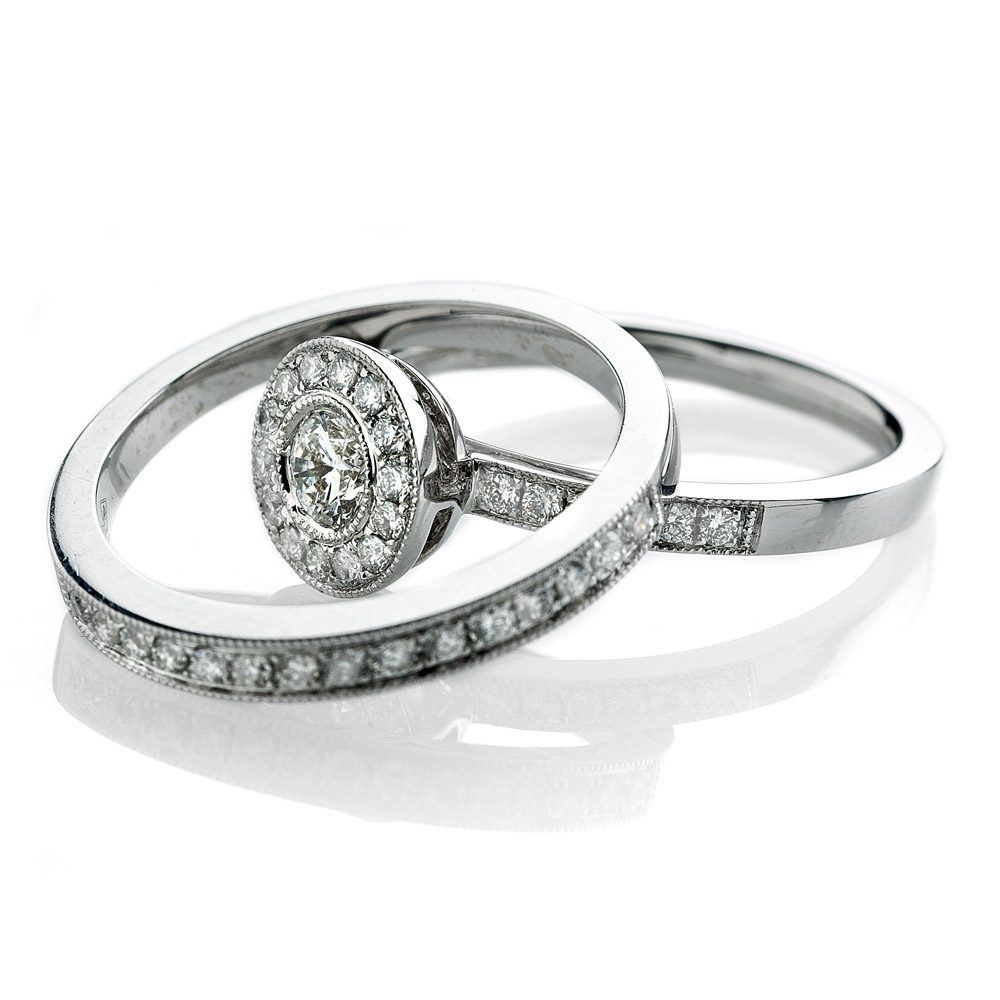 Heidi Kjeldsen Exclusive Diamond Set Eternity Ring in 18ct White Gold R988+R981-3