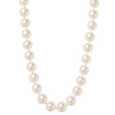 Heidi Kjeldsen Exquisite Akoya Cultured Pearl Necklace With 18ct NL997