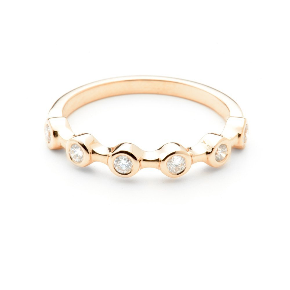 Heidi Kjeldsen Exquisite Rose Gold Stacking Ring R1077