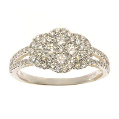 Heidi Kjeldsen Fabulously Feminine Diamond Cluster Ring R841