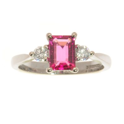 Heidi Kjeldsen Glorious Pink Tourmaline and Diamond Ring CS0400