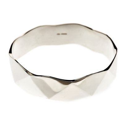 Heidi Kjeldsen Glorious Sterling Silver Handmade Faceted Bangle BL065
