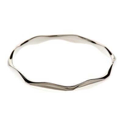 Heidi Kjeldsen Handmade Sterling Silver Octagonal Bangle BL954