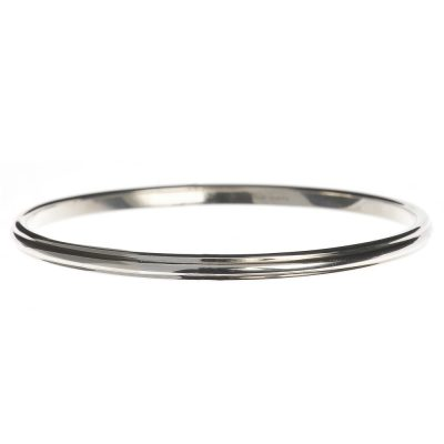 Heidi Kjeldsen Handmade Sterling Silver Ridged Bangle BL1234