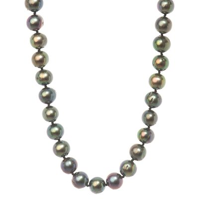 Heidi Kjeldsen Iridescent Black Cultured Pearl Necklace NL998