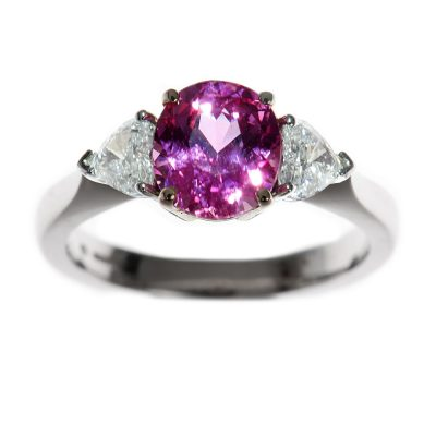 Heidi Kjeldsen Pink Sapphire & Heart Diamond Ring R752