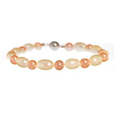 Heidi Kjeldsen Pink & White Cultured Pearl Bracelet BL885