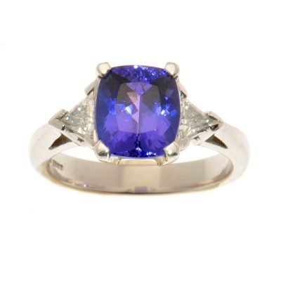 Heidi Kjeldsen Rare Tanzanite & Trilliant Diamond Ring R864
