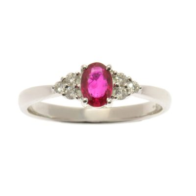 Heidi Kjeldsen Ruby & Diamond Ring R920A