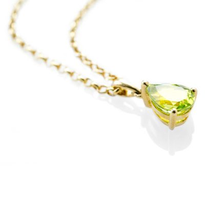 Heidi Kjeldsen Striking Peridot Pendant in 9ct Yellow Gold P941