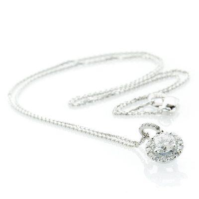Heidi Kjeldsen Stunning Diamond & White Gold 18ct Cluster Pendant P841