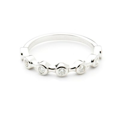 Heidi Kjeldsen Stunning Diamond & White Gold Stacking Ring R1076