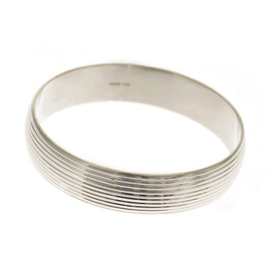 Heidi Kjeldsen Stylish Handmade Sterling Silver Heavy Bangle BL956