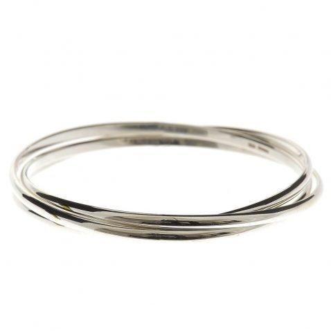 Heidi Kjeldsen Stylish Sterling Silver Russian Wedding Ring Style Handmade Bangle BL069