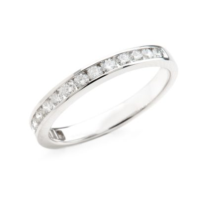 Heidi Kjeldsen Timeless Diamond Channel Set Eternity or Wedding Ring in 18ct White Gold R1028