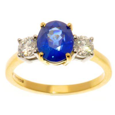 Heidi Kjeldsen Unique Ceylon Sapphire & Diamond Ring R949
