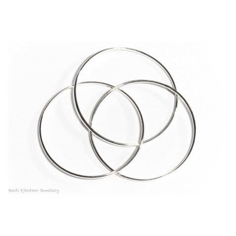 Heidi Kjeldsen Stylish Sterling Silver Russian Wedding Ring Style Handmade Bangle BL069 C