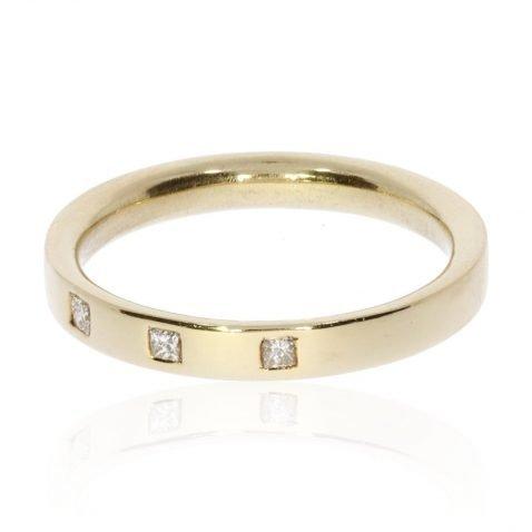 Heidi Kjeldsen Unique Princess Cut Diamond Set Ring by Heidi Kjeldsen Jewellery R1024 Side