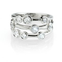 Heidi Kjeldsen Exquisite Diamond Bubble Ring R1041