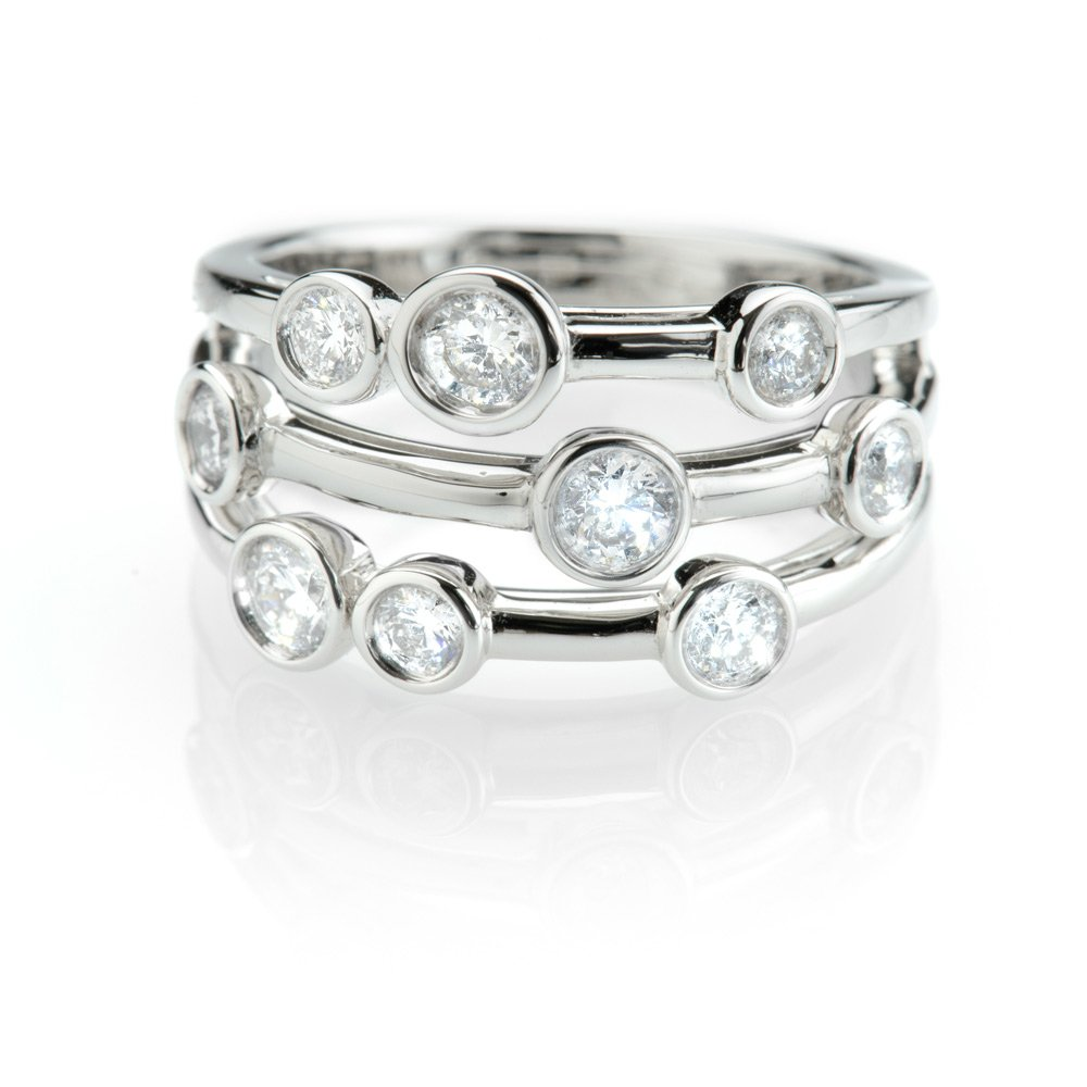 Exquisite Diamond Bubble Ring