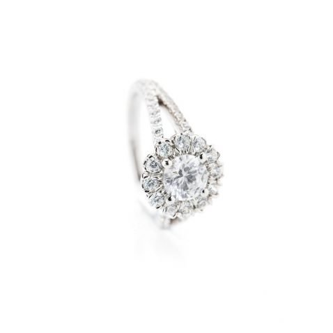 Heidi Kjeldsen Luxurious Diamond Cluster Engagement Ring R1107 alt