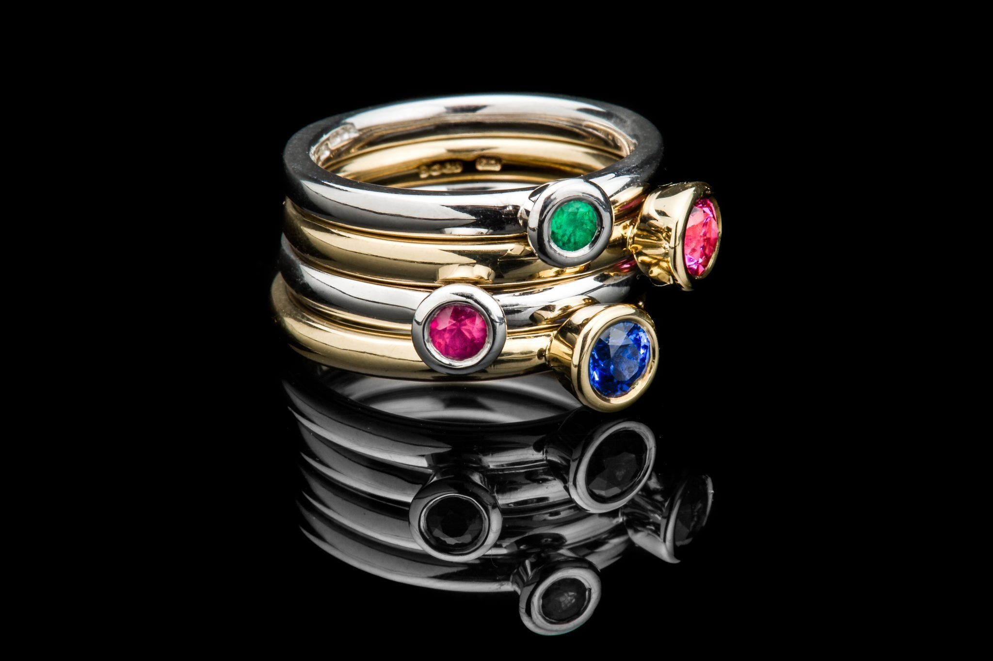 Elegant stacking rings - begin your collection this Christmas