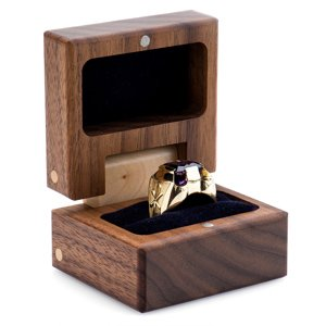 Heidi Kjeldsen Jewellery - Bishop of Dunwich New Amethyst Ring Handmade Walnut Box