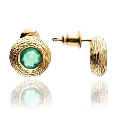 Azuni Chic Green Onyx Earrings Heidi Kjeldsen SOLEST1GON