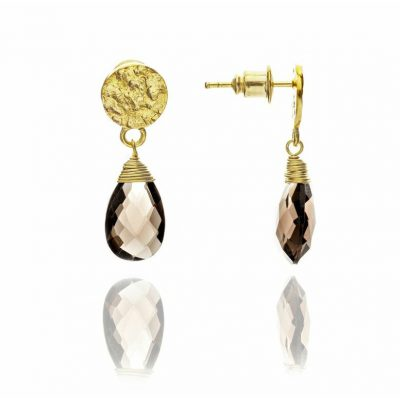 Azuni Exotic Smokey Quartz Drop Earrings ATHEST2SM
