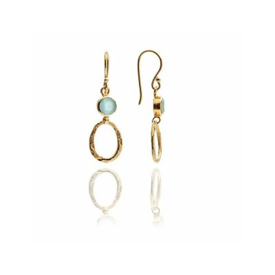 Azuni Softly Feminine Aqua Drop Earrings Heidi Kjeldsen ATHE6SAQ