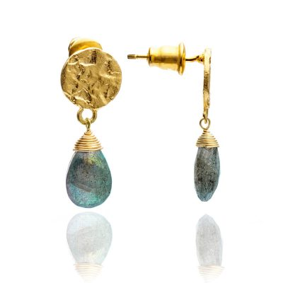 Azuni legant Labradorite Drop Earrings Heidi Kjeldsen ATHEST1LAB
