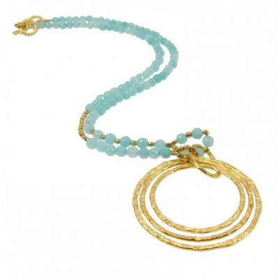 Azuni Striking Aqua Necklace Heidi Kjeldsen ATHN2AQ