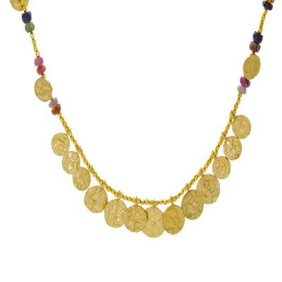 Azuni Stunning Tourmaline & Coin Necklace Heidi Kjeldsen CLEO N7TOUR