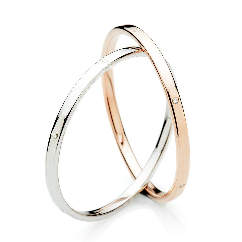 Exquisite Gold & Diamond Set Handmade Solid Bangle by Heidi Kjeldsen Ltd BL981 1