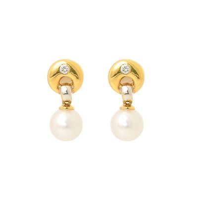 Heidi Kjeldsen Akoya Pearls, Diamond & Gold Earrings ER0429