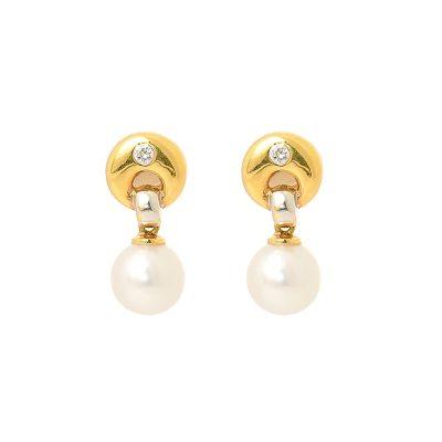 Heidi Kjeldsen Akoya Pearls, Diamond & Gold Earrings ER0429