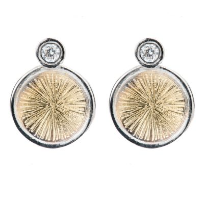 Heidi Kjeldsen Astrid Planet Earrings With Diamond and Gold ER1917-1